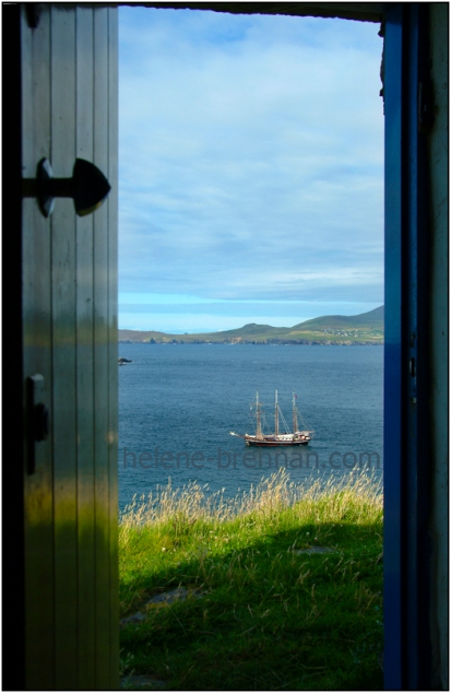 Image View from the cottage door of my temporary residence on Great Blasket Island