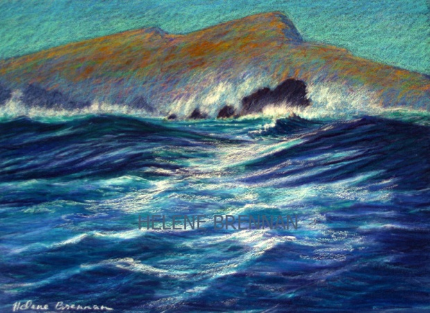 Rough Sea with Sleeping Giant
