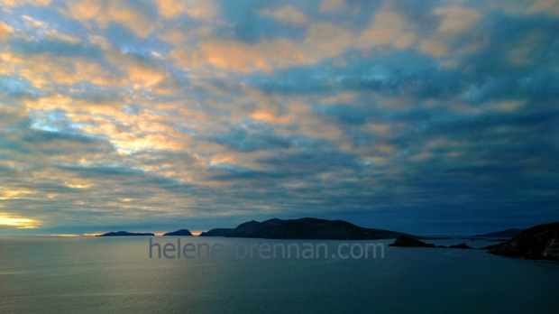 Sunset at Slea Head, Dingle Peninsula, with the Blasket Islands in view