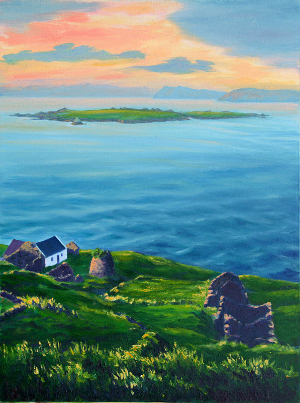 Blasket Evening - oil on canvas  041