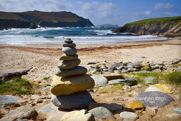 DSC_9506 clogher beach and stone pile