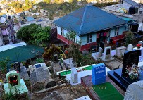 Graveyard and residential home